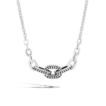 Dot Link Necklace in Silver