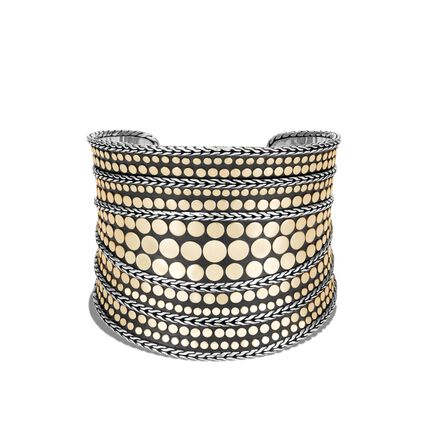 Dot 50MM Cuff in Silver and 18K Gold