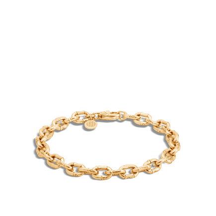 Bamboo 6MM Link Bracelet in 18K Gold