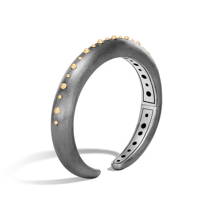 Dot 10MM Kick Cuff in Blackened Silver and 18K Gold