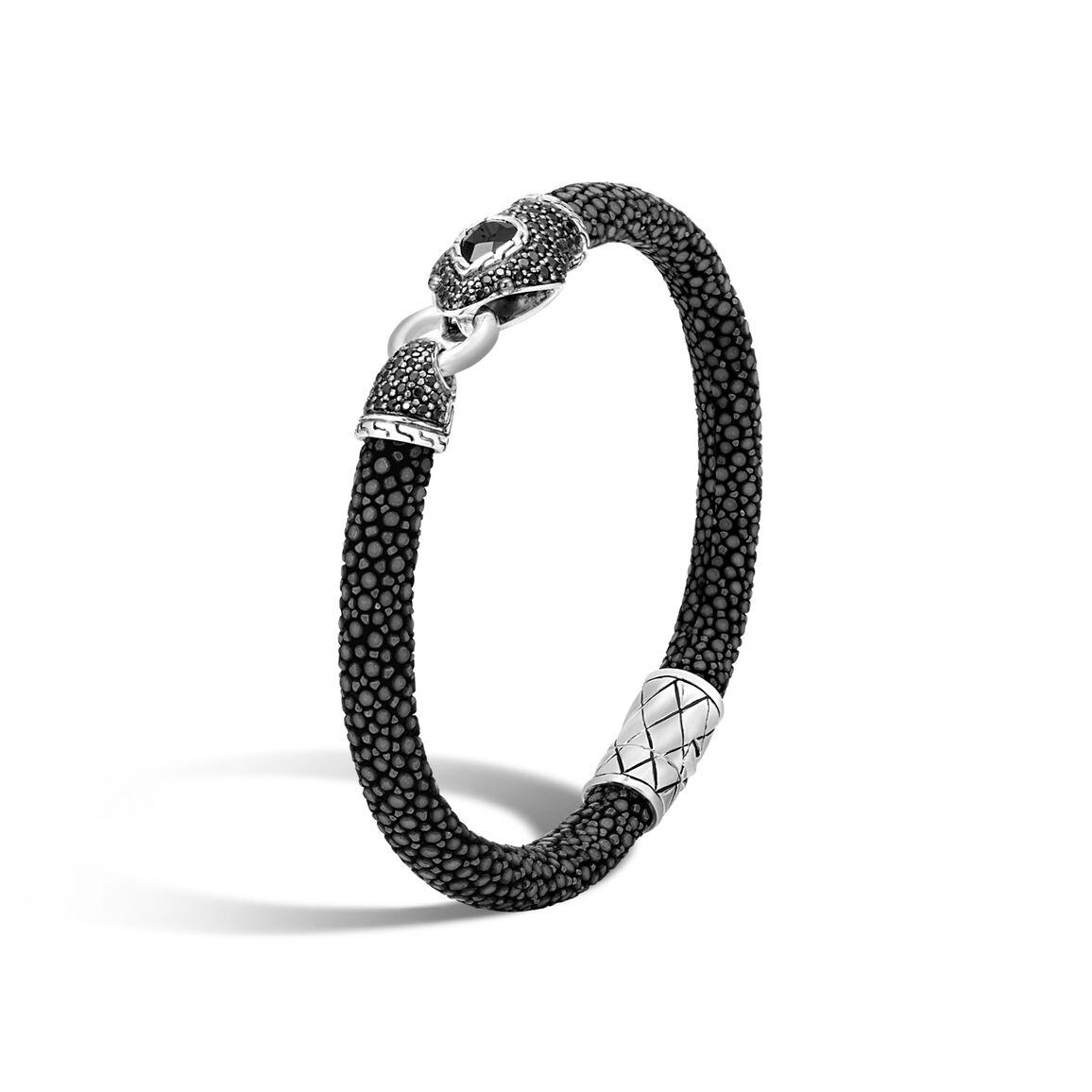 Legends Cobra 6MM Station Bracelet, Silver, Stingray, Gems