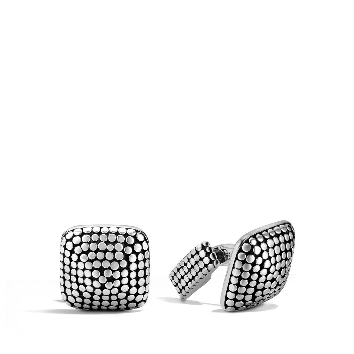 Dot Cufflinks in Silver