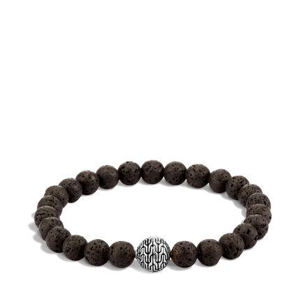 Classic Chain Bead Bracelet with Volcanic