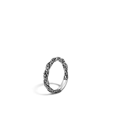 Twisted Chain 3MM Band Ring in Silver
