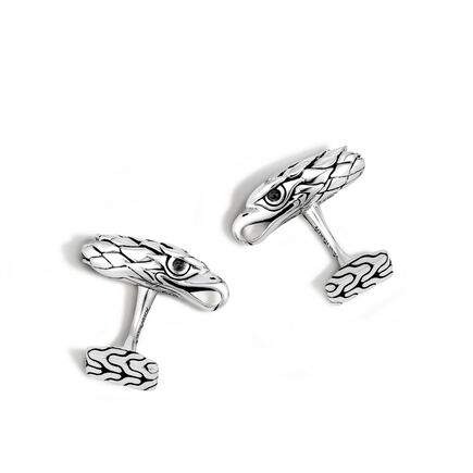 Legends Eagle Head Cufflinks in Silver