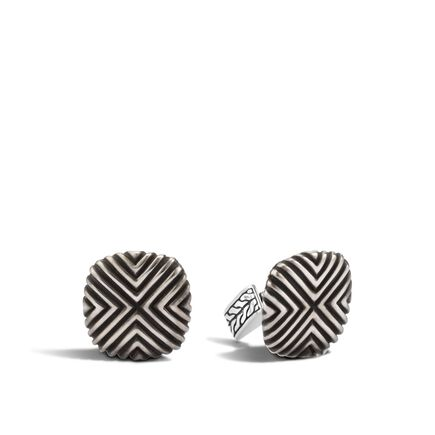 Bedeg Triangle Line Pattern Square 19x19mm Cufflinks