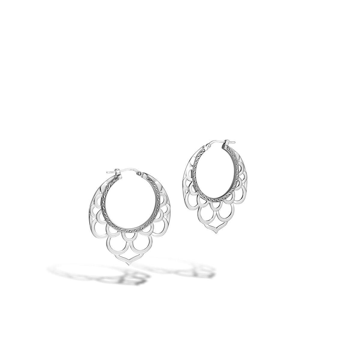 Legends Naga Hoop Earring in Silver
