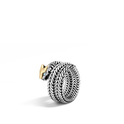Legends Macan Coil Ring in Silver and 18K Gold