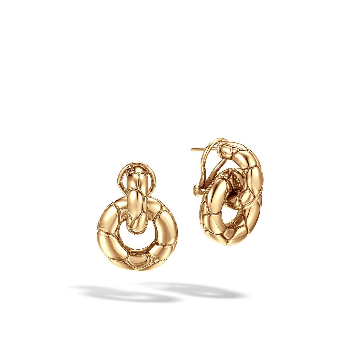 Kali Door Knocker Earring in 18K Gold