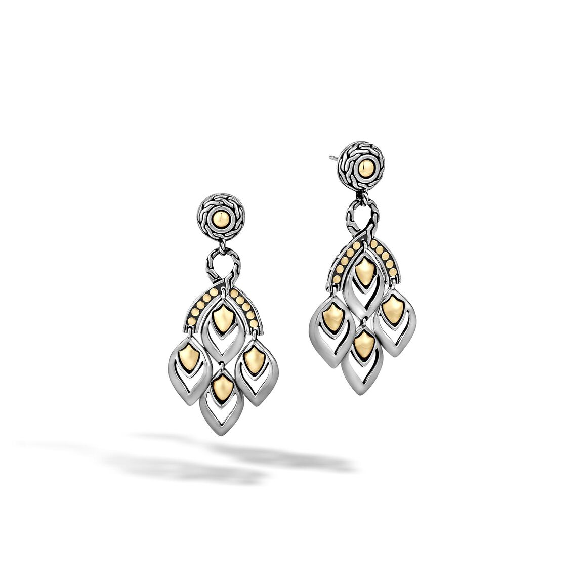 Legends Naga Chandelier Earring in Silver and 18K Gold