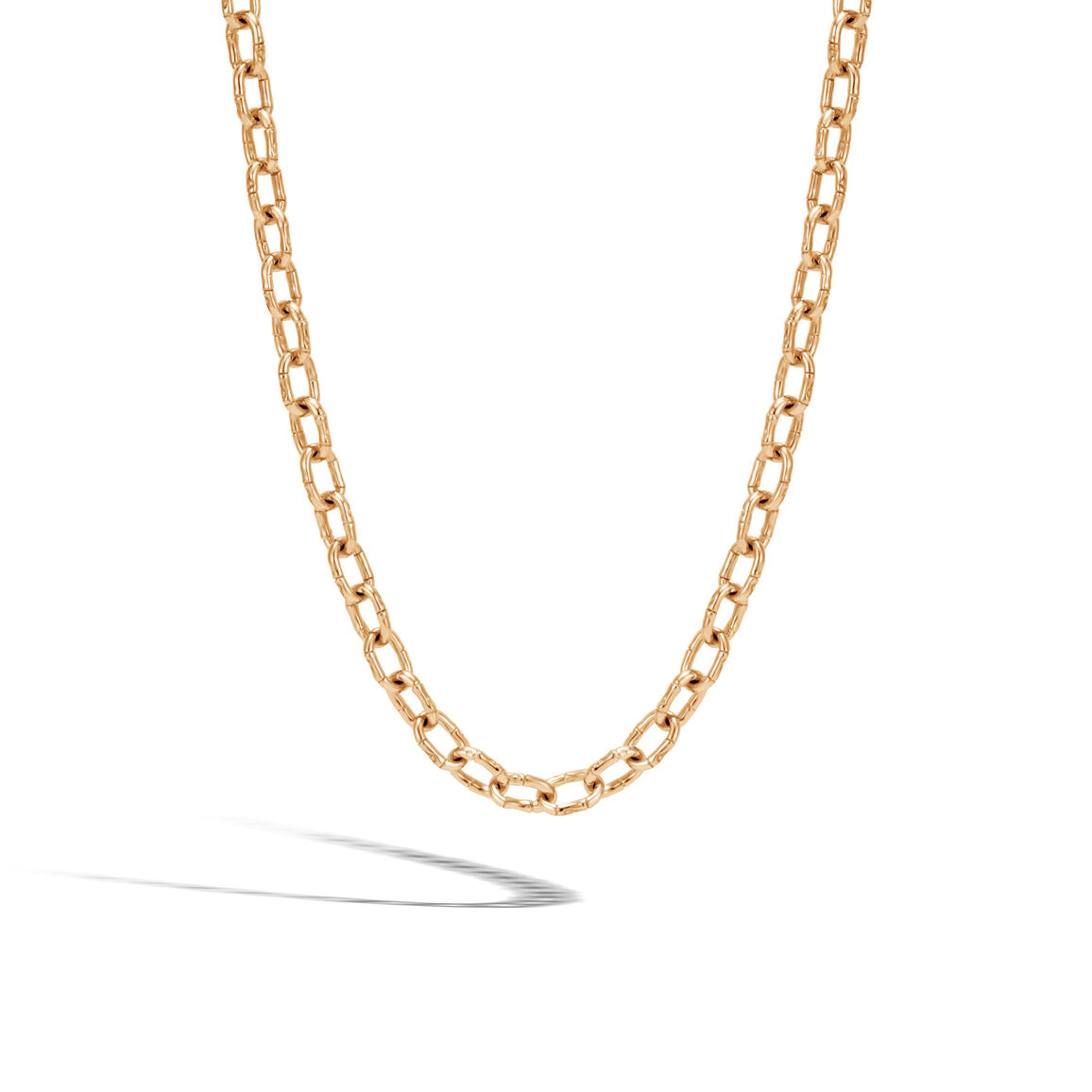 Bamboo 6MM Link Necklace in 18K Gold