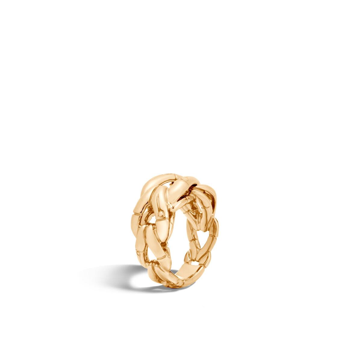 Bamboo Ring in 18K Gold