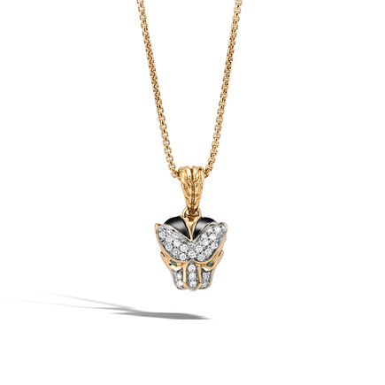 Legends Macan Pendant Necklace in 18K Gold with Diamonds