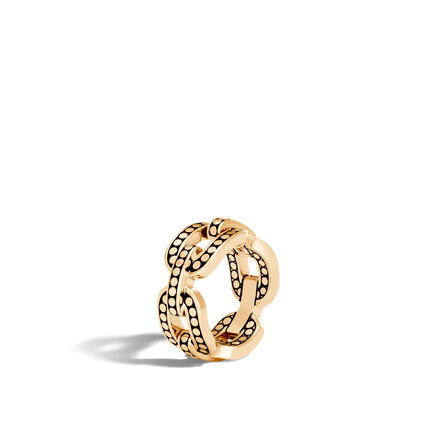 Dot 10MM Band Ring in 18K Gold