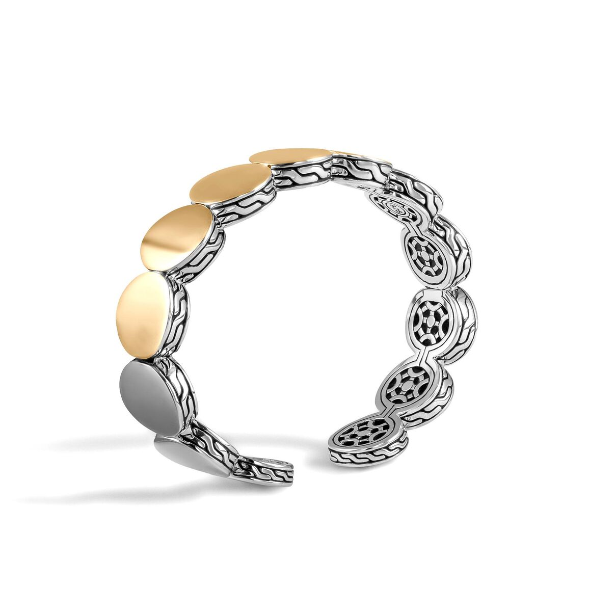 Dot 13.5MM Cuff in  in Silver and 18K Gold