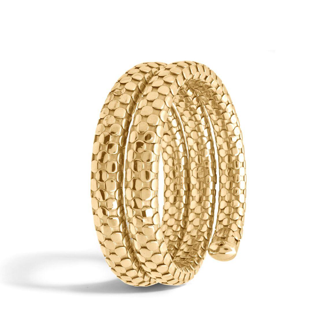 Dot Double Coil Bracelet in 18K Gold