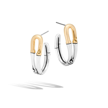 Bamboo Small Hoop Earrings