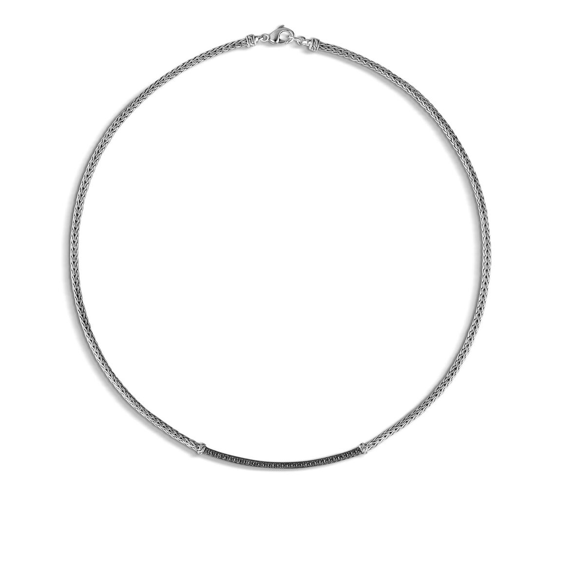 Classic Chain 2.5MM Station Necklace in Silver