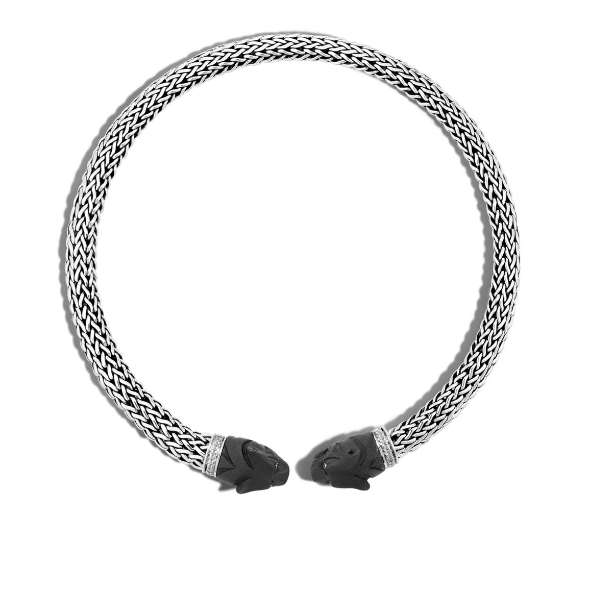 Legends Macan Choker Necklace, Silver, Gemstone and Diamonds