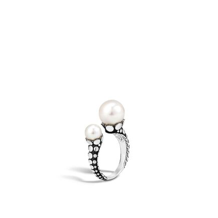 Dot Ring in Silver with 11MM and 7MM Pearl