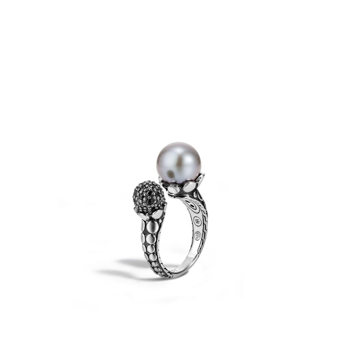 Dot Ring in Silver with 11MM Pearl and Gemstone