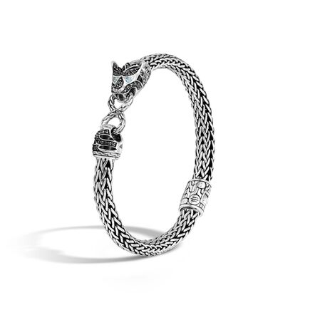 Legends Macan 6.5MM Station Bracelet in Silver with Gemstone