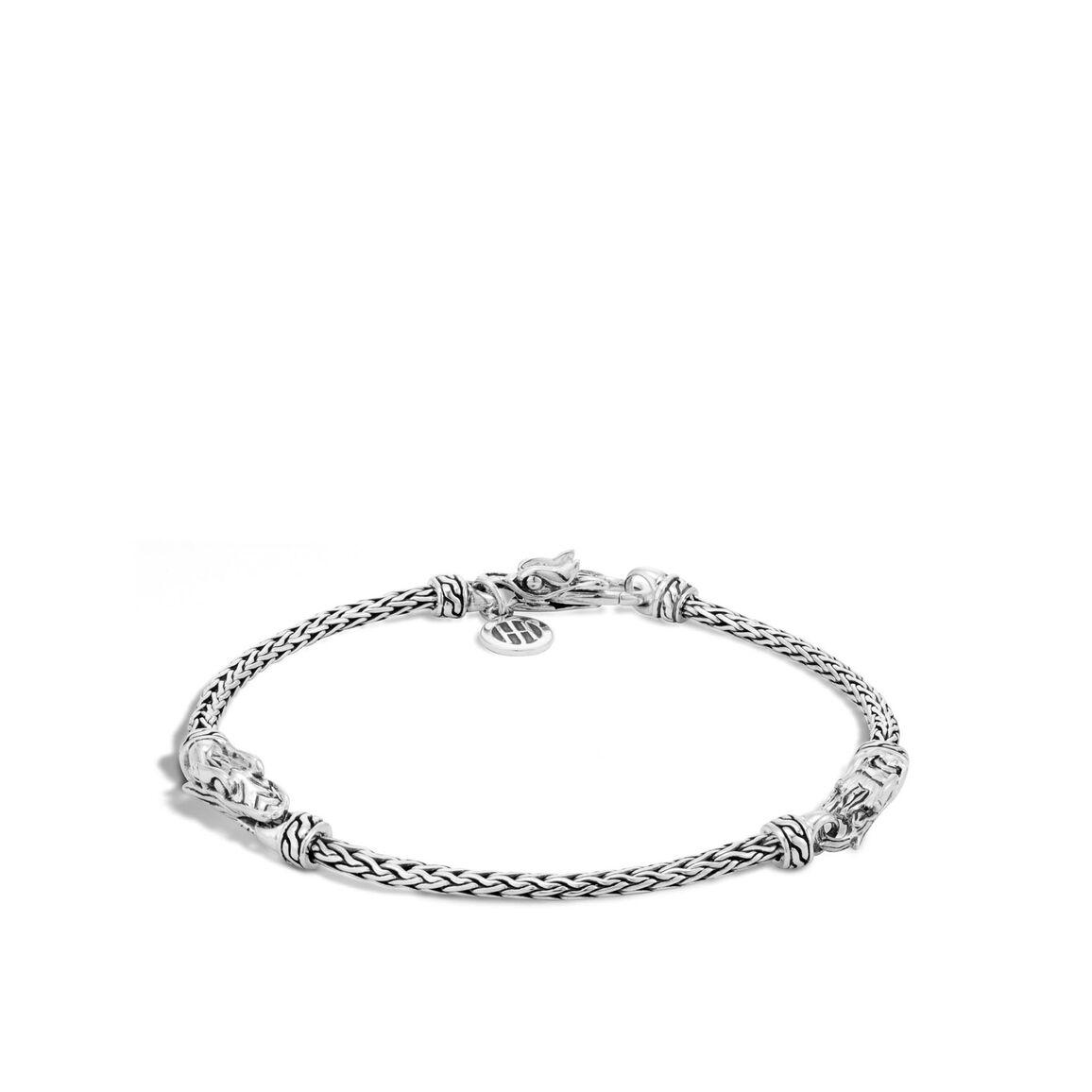 Legends Naga 2.5MM Station Bracelet in Silver