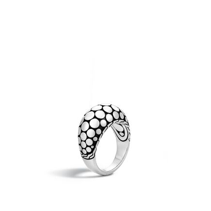 Dot 12MM Dome Ring in Silver