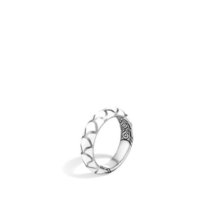 Legends Naga 5MM Band Ring in Silver with Enamel