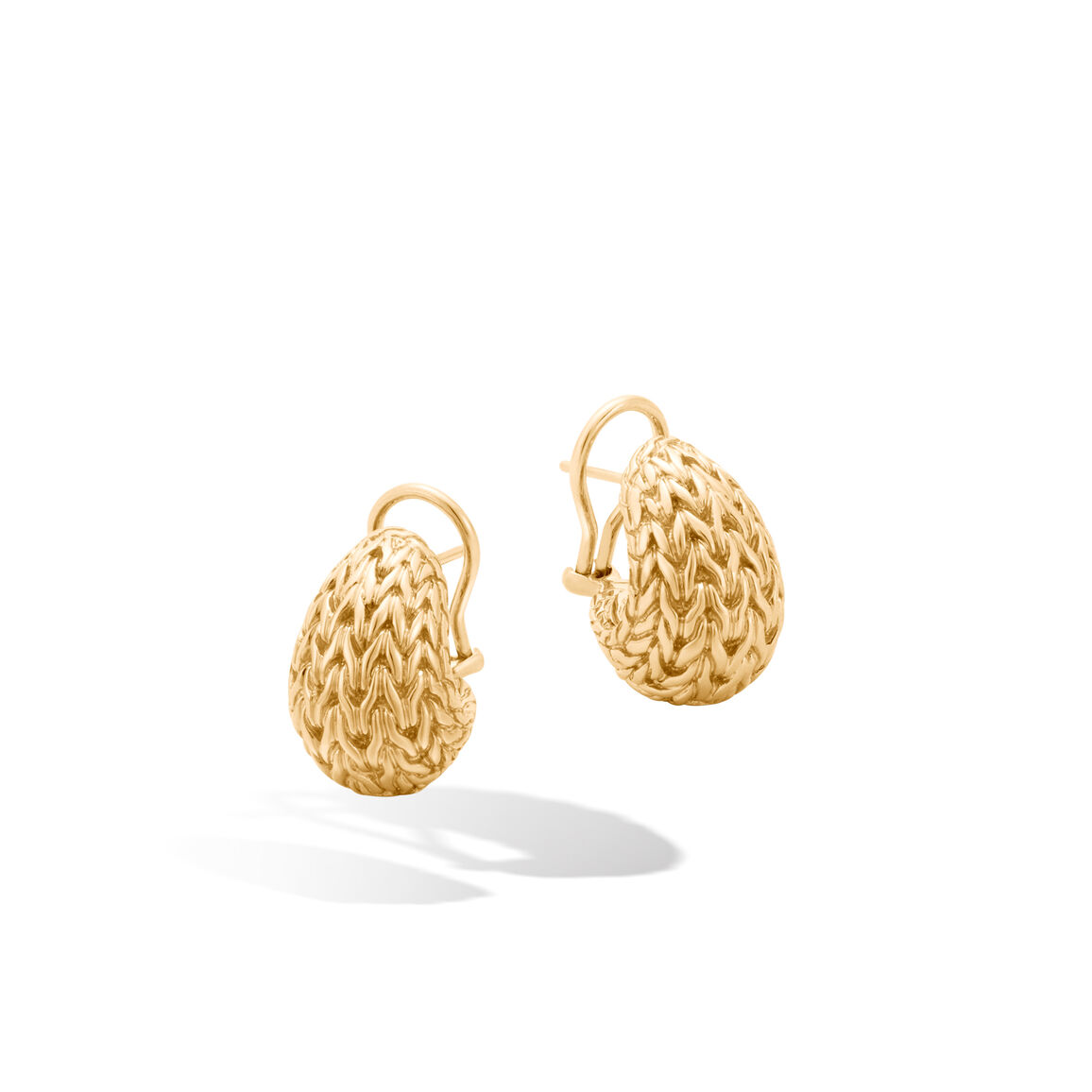 Classic Chain Graduated Buddha Belly Earrings in 18K Gold