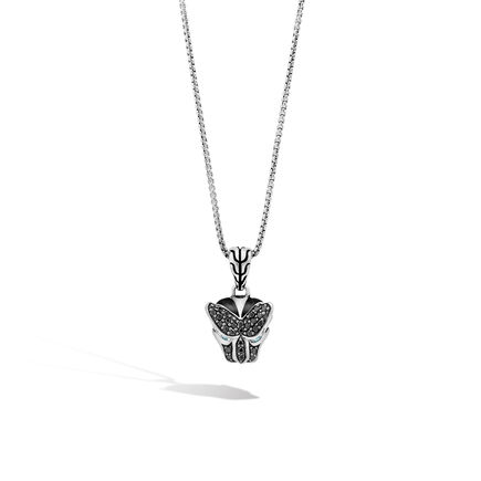 Legends Pendant Necklace in Silver with Gemstone