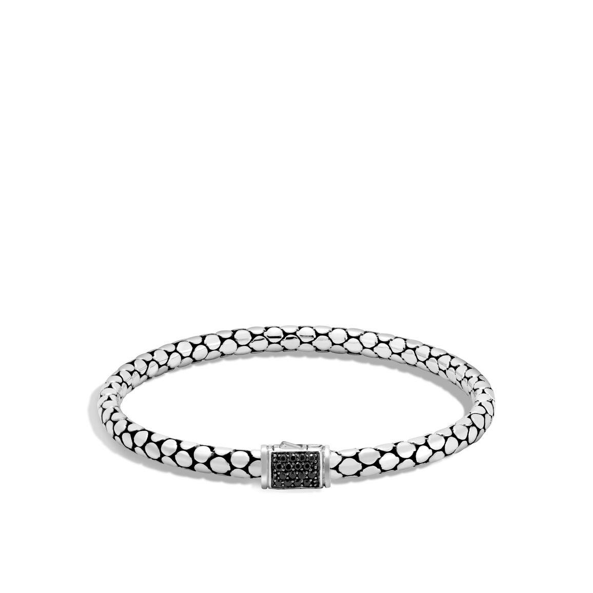 Dot 4.5MM  Bracelet in Silver with Gemstone