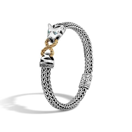 Legends Macan 6.5MM Station Bracelet in Silver and 18K Gold