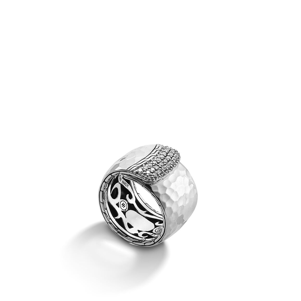 Classic Chain Wide Overlap Band Ring