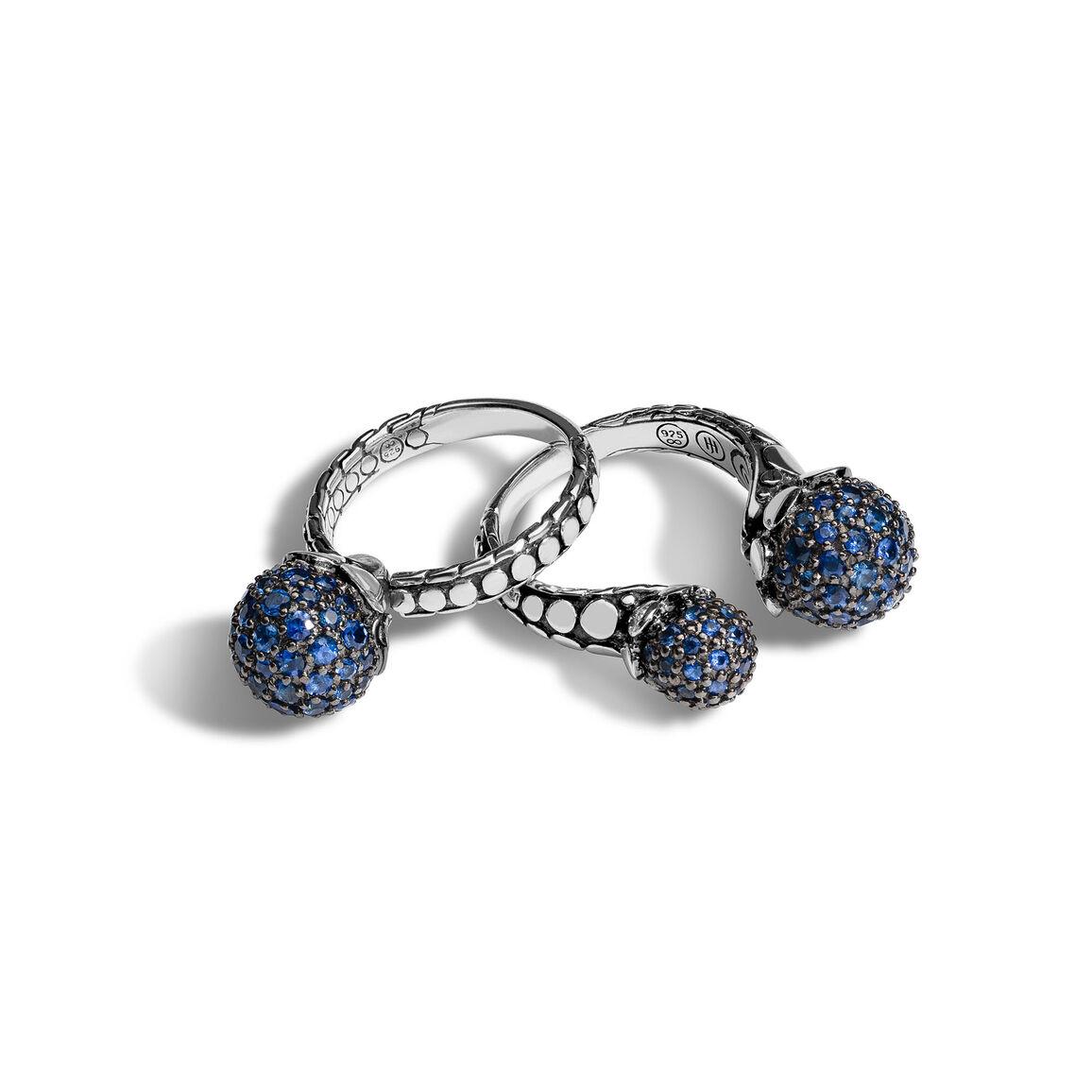 Dot Blue Sapphire Ring Gift Set