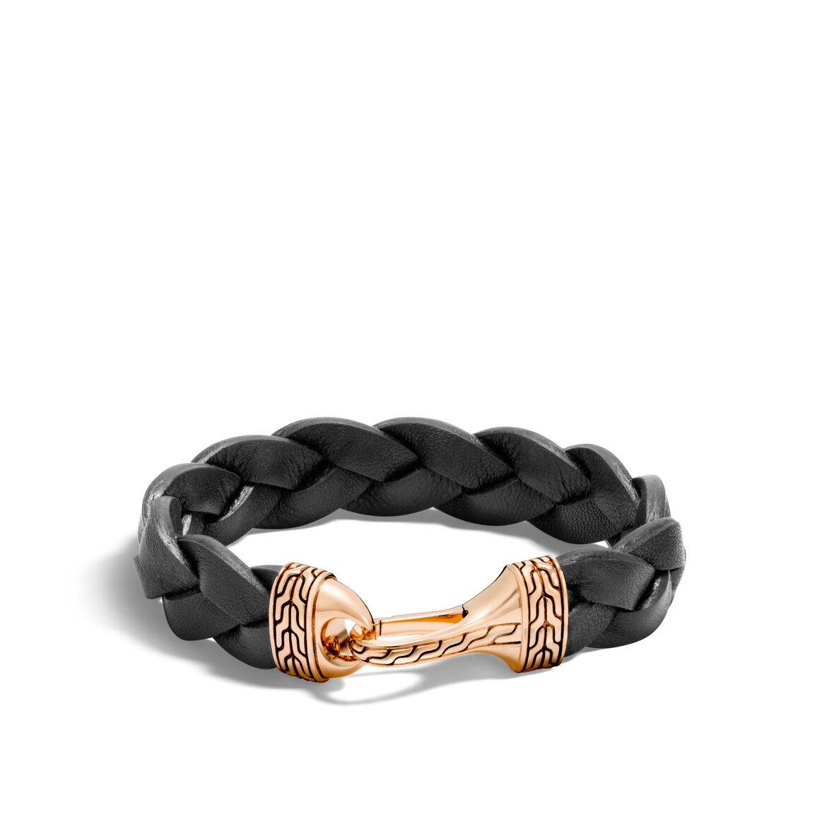 Classic Chain 17MM Station Bracelet in Bronze and Leather
