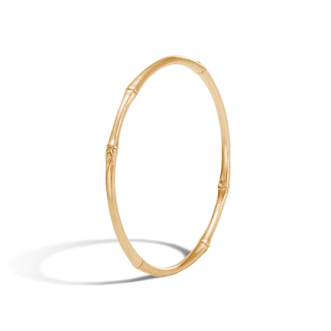 Bamboo 3.5MM Bangle in Brushed 18K Gold