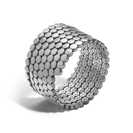Dot Multiple Coil Bracelet in Silver
