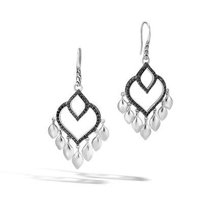 Legends Naga Chandelier Earring in Silver with Gemstone