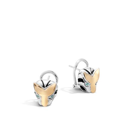 Legends Macan  Button Earring in Silver and 18K Gold