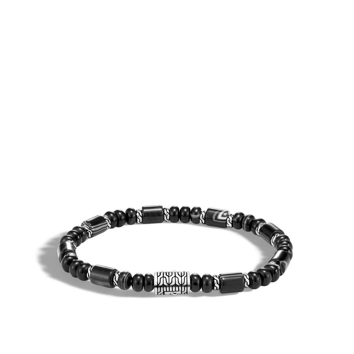 Classic Chain Bead Bracelet in Silver