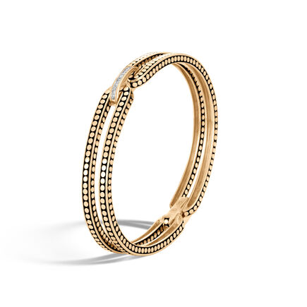 Dot 9.5MM Bracelet in 18K Gold with Diamonds