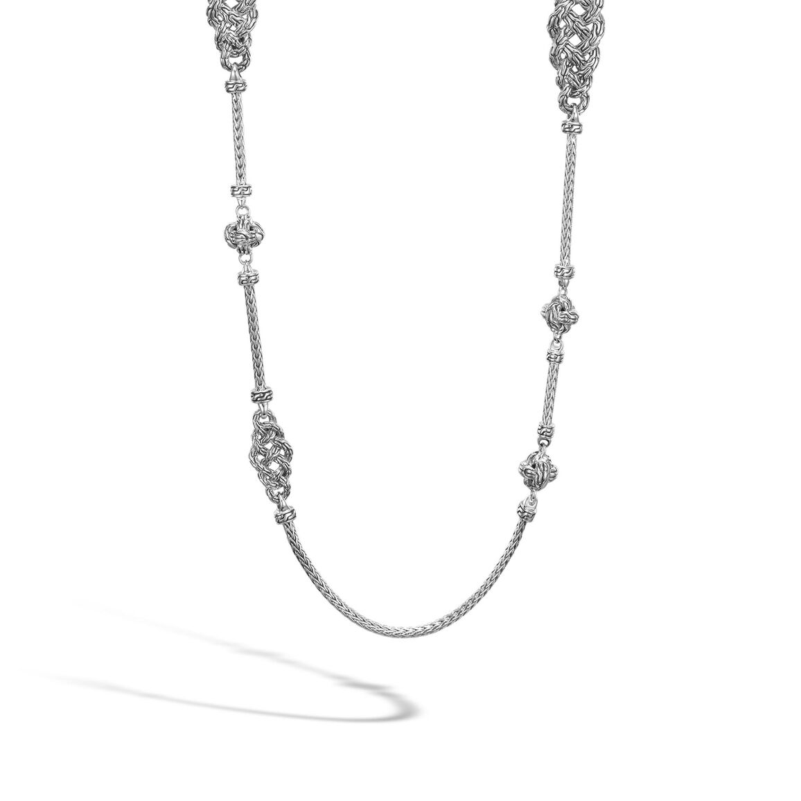 Classic Chain 2MM Station Necklace in Silver