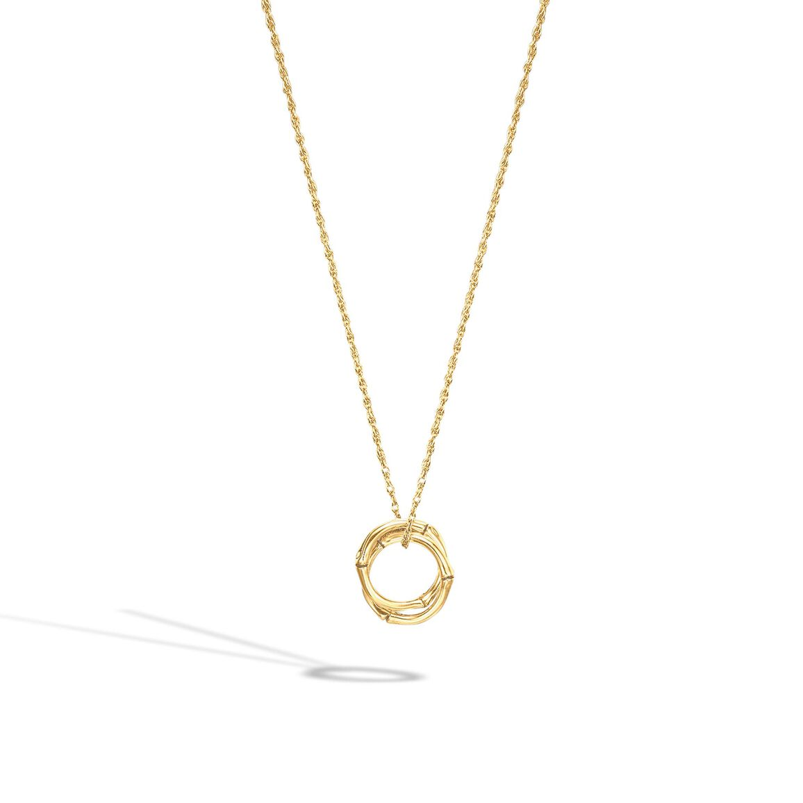 Bamboo Necklace in 18K Gold
