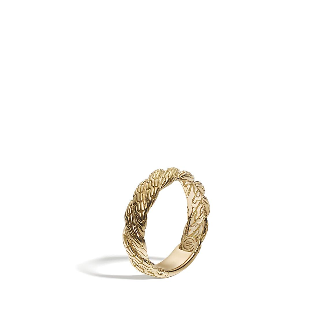 Twisted Chain 5MM Band Ring in 18K Gold