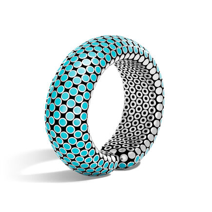 Dot 23MM Cuff in Silver with Enamel