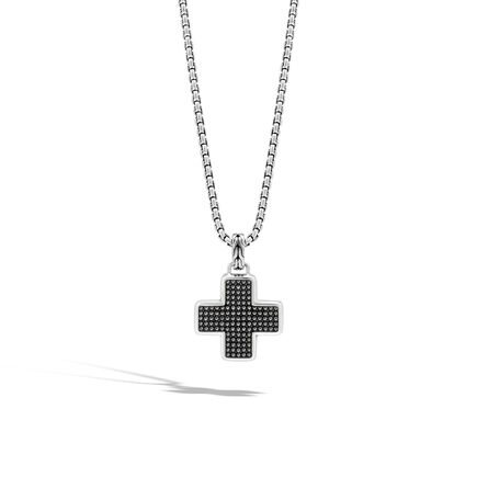 Chain Jawan Cross Pendant in Silver