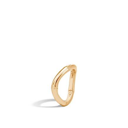 Bamboo 4MM Curved Band Ring in 18K Gold