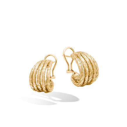Classic Chain Buddha Belly Earrings in 18K Gold