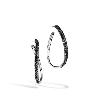 Kali Hoop Earring in Silver with Gemstone
